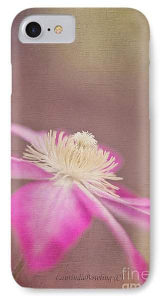 Clematis IPhone Case by Laurinda Bowling