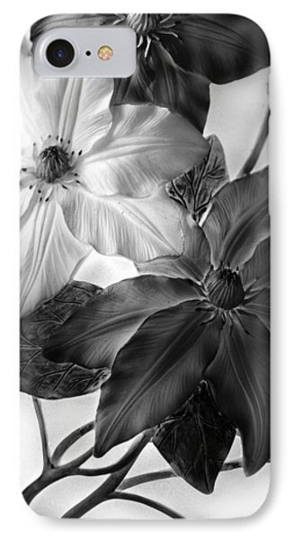 Clematis Overlay IPhone 7 Case by Jessica Jenney