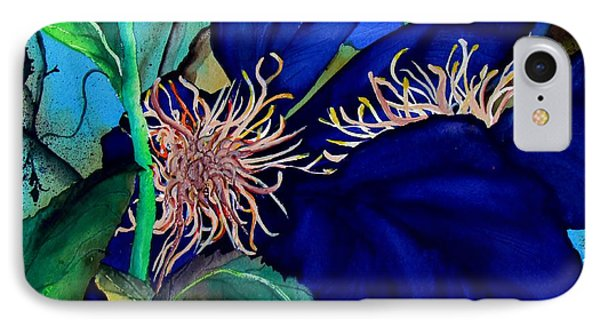 Clematis Regal In Purple And Blue Sold IPhone Case by Lil Taylor