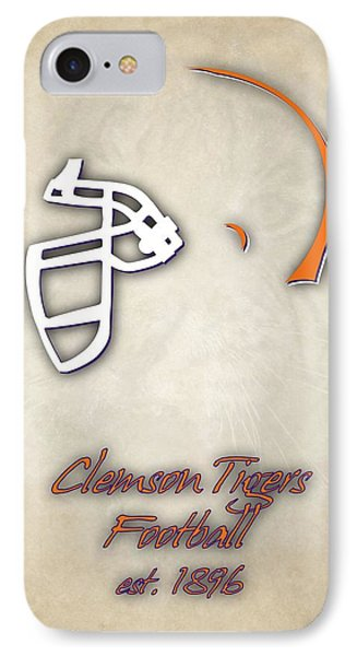 Clemson Tigers Helmet 2 IPhone Case by Joe Hamilton