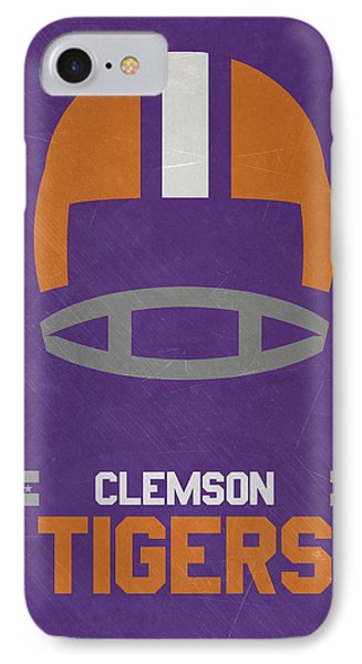 Clemson Tigers Vintage Football Art IPhone Case