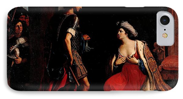 IPhone Case featuring the painting Cleopatra And Octavian by Pg Reproductions