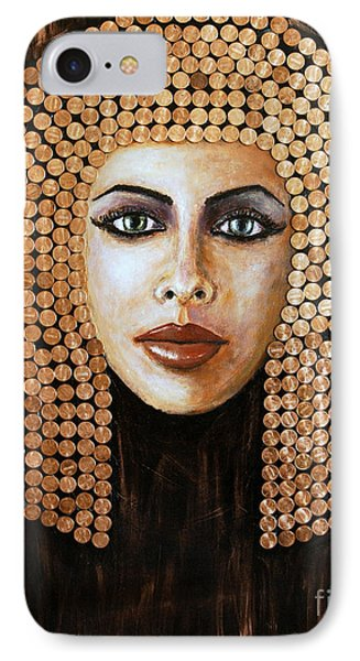Cleopatra IPhone Case by Arturas Slapsys