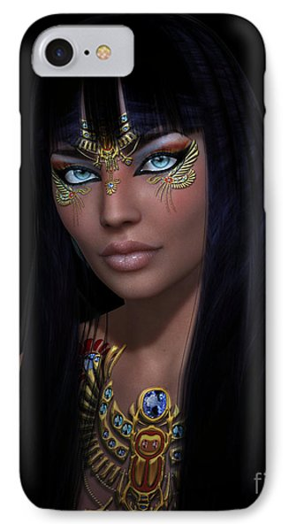 IPhone Case featuring the digital art Cleopatra   Col by Shadowlea Is