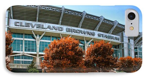 Cleveland Browns Stadium Phone Case by Kenneth Krolikowski