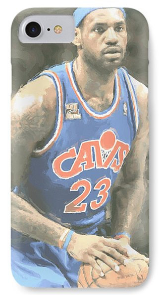 Lebron James iPhone 7 Case - Cleveland Cavaliers Lebron James 1 by Joe Hamilton
