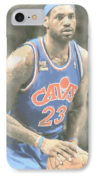 Cleveland Cavaliers Lebron James 1 IPhone Case by Joe Hamilton
