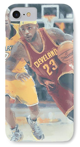 Cleveland Cavaliers Lebron James 3 IPhone Case by Joe Hamilton