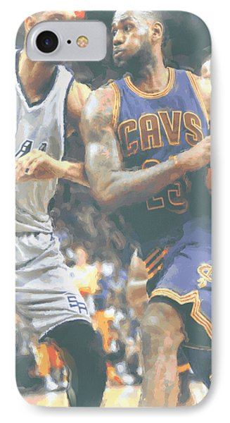 Cleveland Cavaliers Lebron James 4 IPhone 7 Case by Joe Hamilton