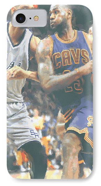 Cleveland Cavaliers Lebron James 4 IPhone Case by Joe Hamilton