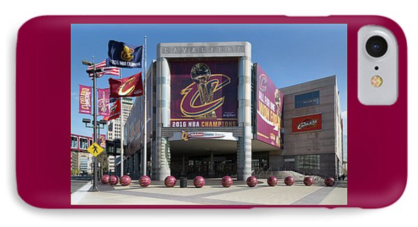 IPhone Case featuring the photograph Cleveland Cavaliers The Q by Dale Kincaid