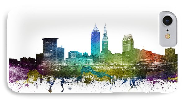 Cleveland Cityscape 01 IPhone Case by Aged Pixel