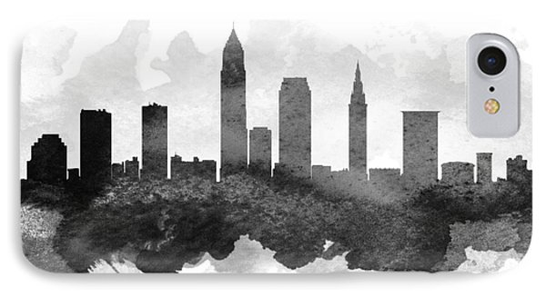 Cleveland Cityscape 11 IPhone Case by Aged Pixel
