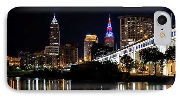 IPhone Case featuring the photograph Cleveland In The World Series 2016 by Dale Kincaid