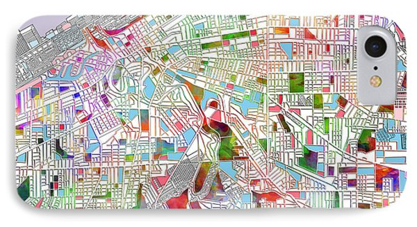 Cleveland Map 2 IPhone Case