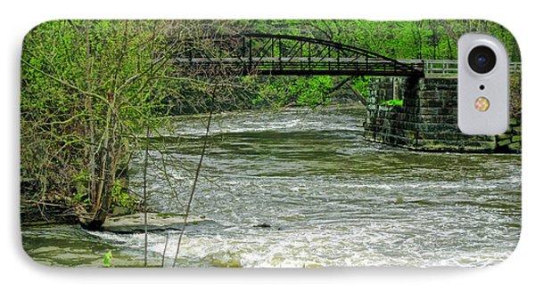 Cleveland Metropark Bridge IPhone Case by Joan  Minchak