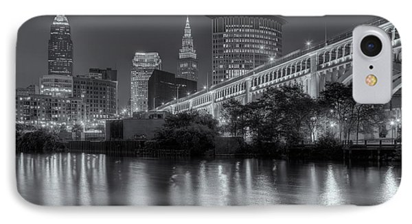 Cleveland Night Skyline IIi IPhone Case