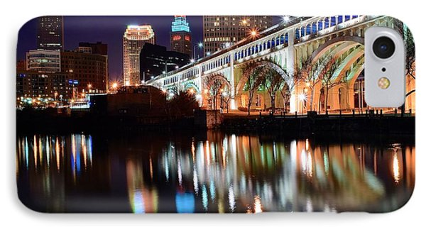 Cleveland Ohio Skyline IPhone Case by Frozen in Time Fine Art Photography