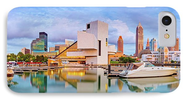 IPhone Case featuring the photograph Cleveland  Pano 1  by Emmanuel Panagiotakis
