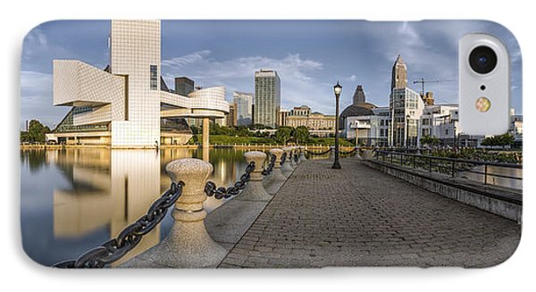 Cleveland Panorama IPhone 7 Case by James Dean