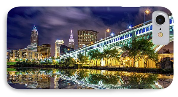 IPhone Case featuring the photograph Cleveland Skyline 4 by Emmanuel Panagiotakis