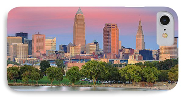 IPhone Case featuring the photograph Cleveland Skyline 6 by Emmanuel Panagiotakis