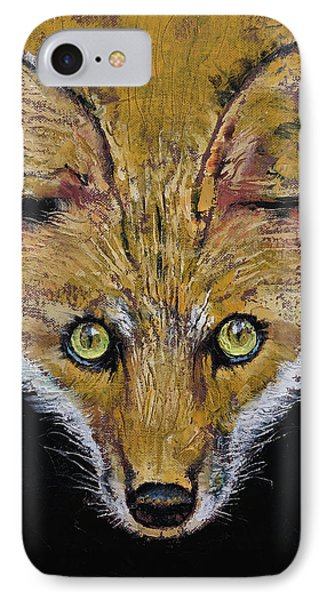 Clever Fox IPhone Case by Michael Creese