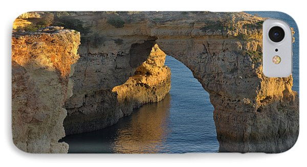 Cliff Arch In Albandeira Beach During Sunset 2 IPhone Case by Angelo DeVal