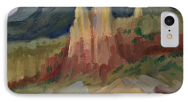 Cliff Chimneys At Georgia O'keeffe's Ghost Ranch IPhone Case by Diane McClary