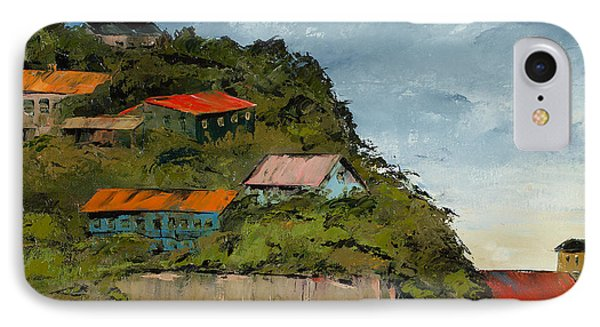Cliff Homes IPhone Case by Carolyn Doe