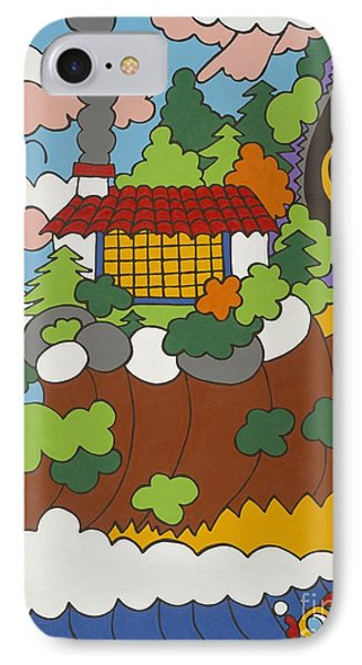 Cliff House Over Ocean IPhone Case by Rojax Art