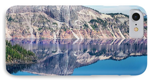 IPhone Case featuring the photograph Cliff Rim Of Crater Lake by Frank Wilson
