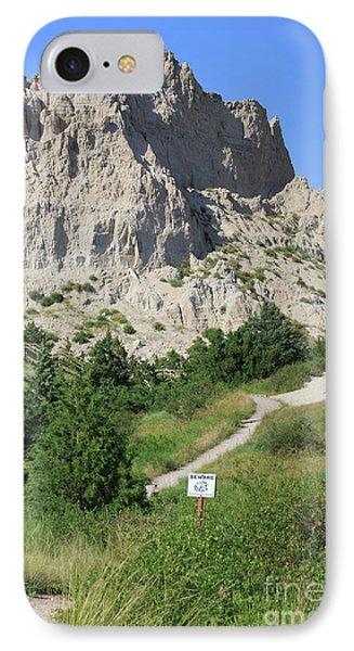 Cliff Shelf Trail In Badlands National Park South Dakota Phone Case by Louise Heusinkveld