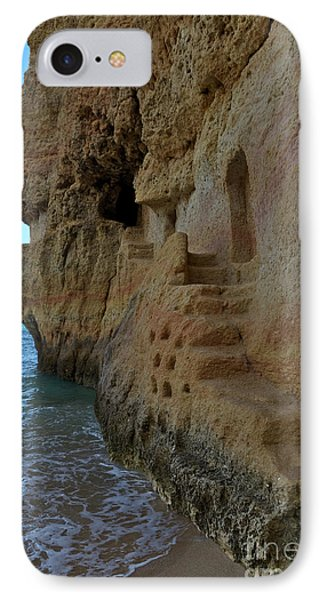 Cliff Staircase In Carvalho Beach. Algarve IPhone Case