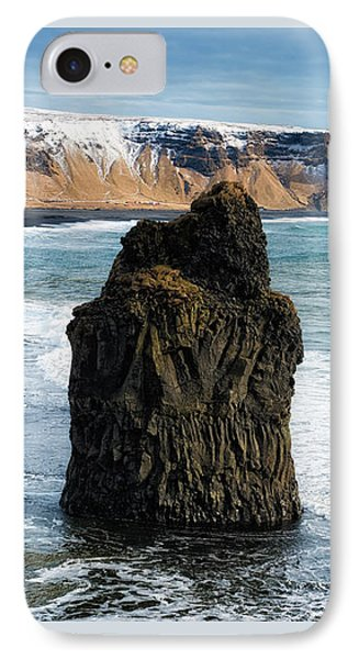 IPhone Case featuring the photograph Cliffs And Ocean In Iceland Reynisfjara by Matthias Hauser