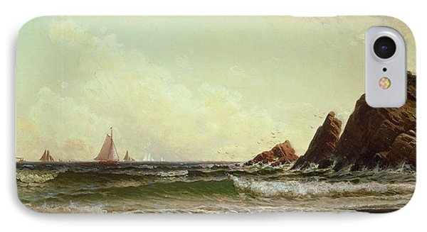 Cliffs At Cape Elizabeth Phone Case by Alfred Thompson Bricher