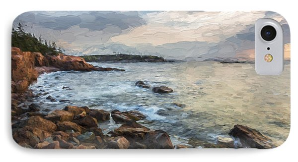 Cliffs Of Acadia II IPhone Case