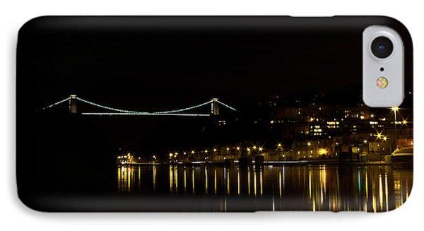 Clifton Suspension Bridge At Night IPhone Case