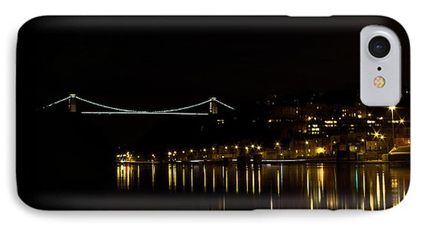 Clifton Suspension Bridge At Night IPhone Case by Brian Roscorla