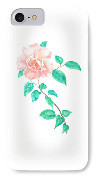 IPhone Case featuring the painting Climbing Rose by Elizabeth Lock