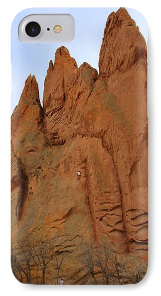 Climbing With The Gods IPhone Case by Mike McGlothlen