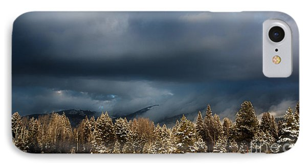 Clinging Clouds Of Winter IPhone Case by Janie Johnson