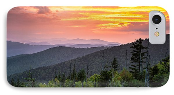 Clingmans Dome Great Smoky Mountains - Purple Mountains Majesty Phone Case by Dave Allen