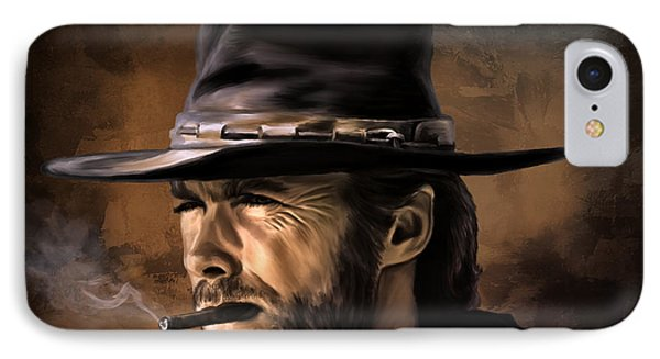 IPhone Case featuring the digital art Clint by Andrzej Szczerski