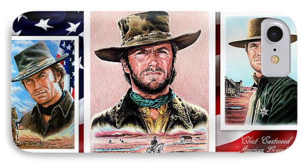 Clint Eastwood American Legend 2nd Ver IPhone Case by Andrew Read