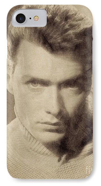 Clint Eastwood, Hollywood Legend By John Springfield IPhone Case