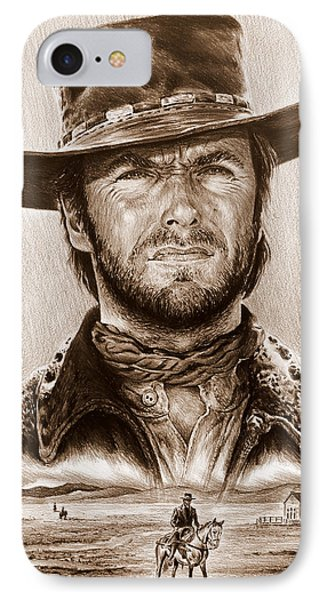 Clint Eastwood The Stranger IPhone Case by Andrew Read