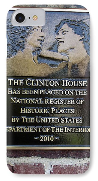 Clinton House Museum 2 IPhone 7 Case by Randall Weidner