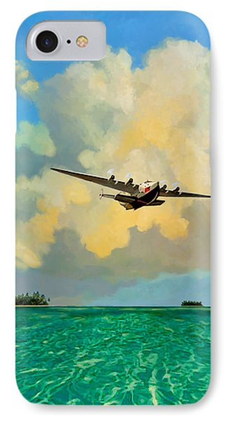 Clipper Over The Islands IPhone Case by David  Van Hulst