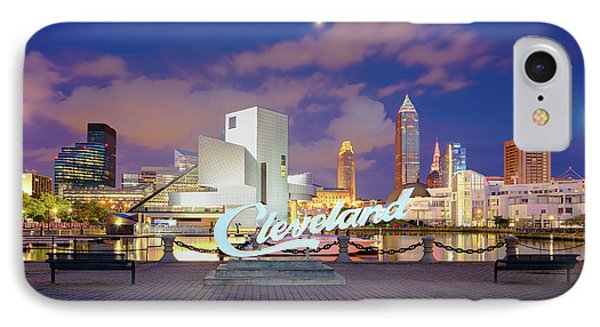 IPhone Case featuring the photograph Cliveland Skyline  by Emmanuel Panagiotakis